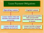 lease payment obligations