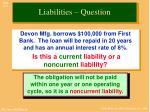 liabilities question