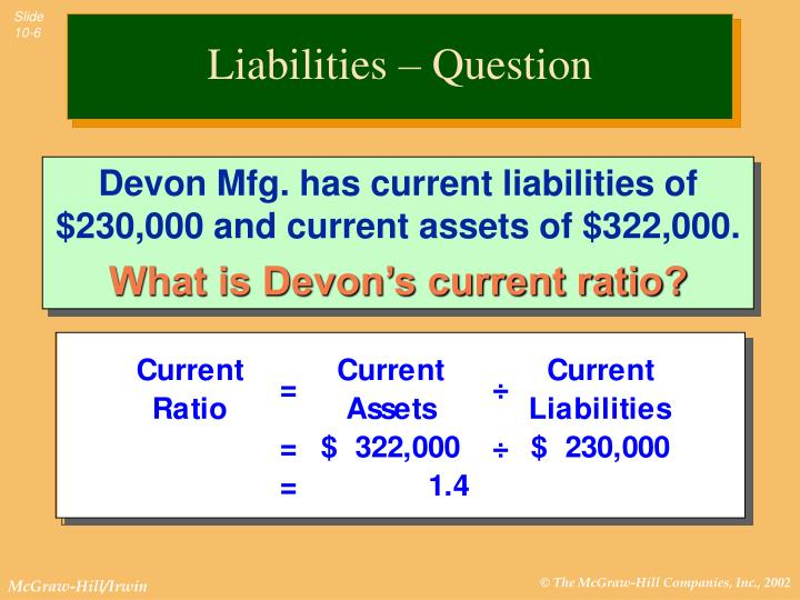 Liabilities – Question
