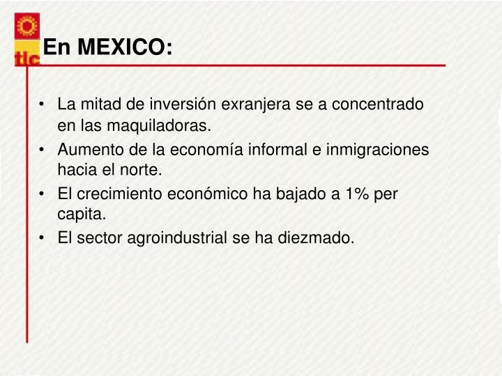 En MEXICO: