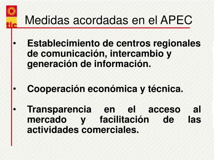 Medidas acordadas en el APEC