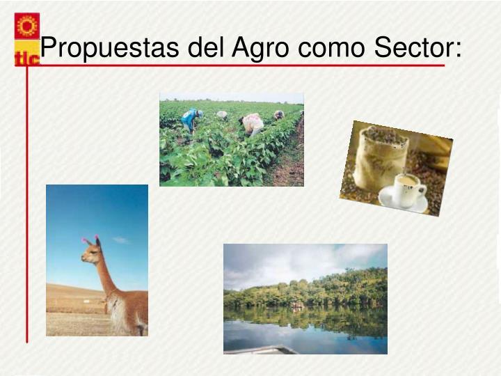 Propuestas del Agro como Sector:
