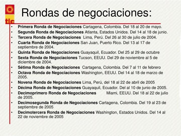 Rondas de negociaciones: