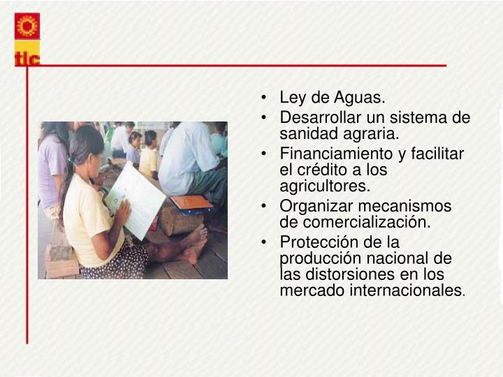 Ley de Aguas.