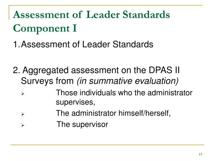 Assessment of Leader Standards