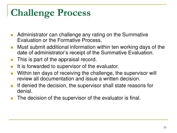 Challenge Process