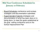 mid year conference scheduled in january or february
