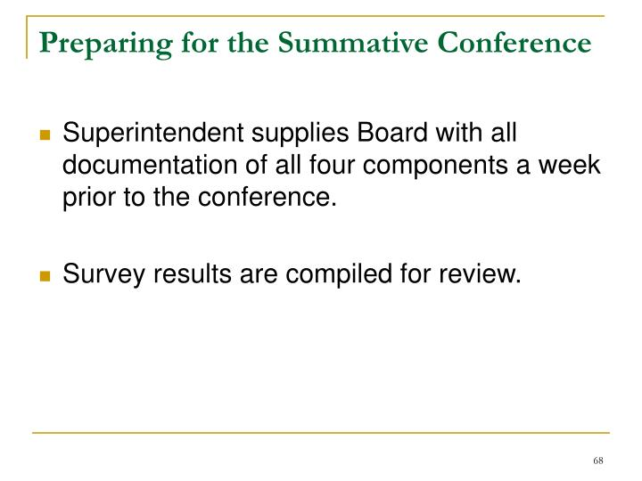 Preparing for the Summative Conference