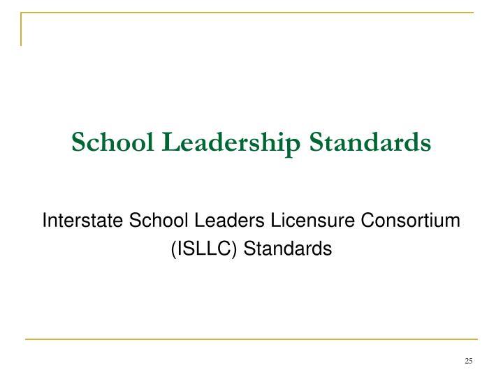 School Leadership Standards