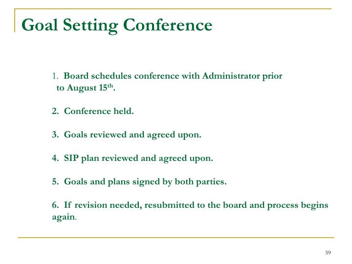 Goal Setting Conference