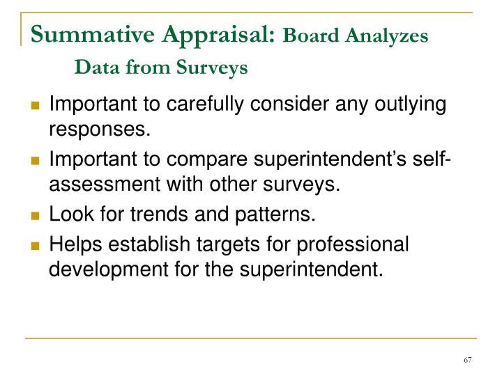Summative Appraisal: