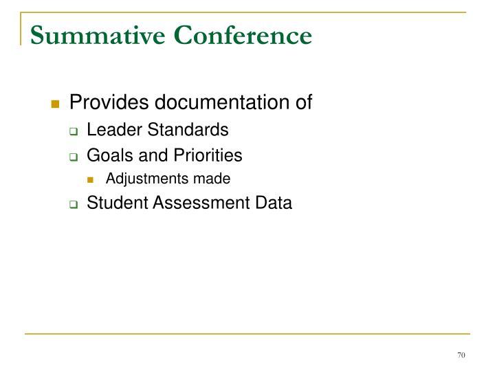 Summative Conference