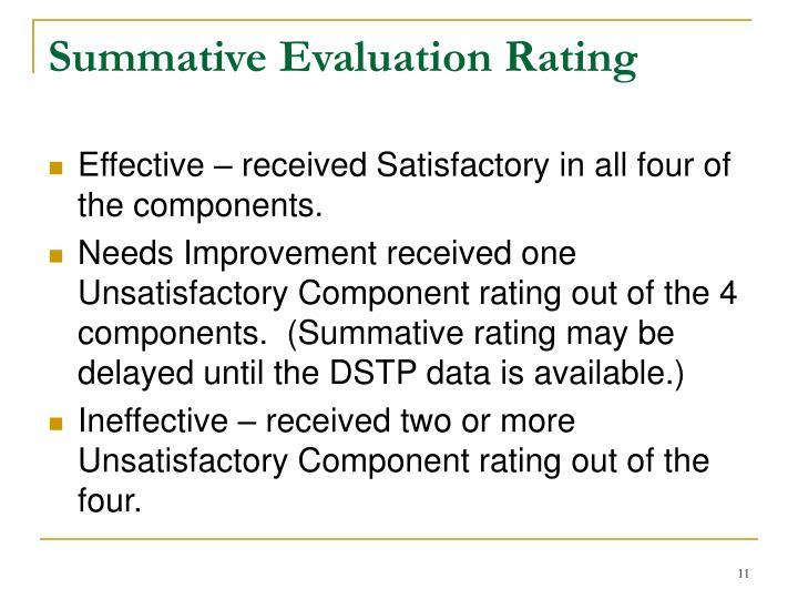 Summative Evaluation Rating