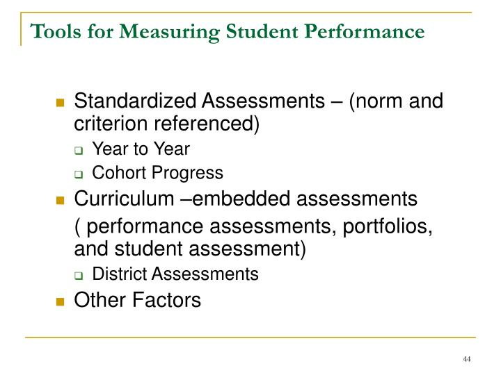 Tools for Measuring Student Performance