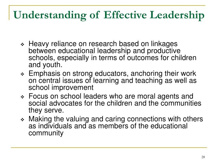 Understanding of Effective Leadership