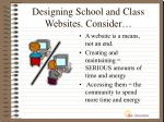 designing school and class websites consider