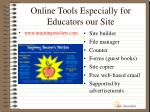 online tools especially for educators our site