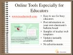 online tools especially for educators