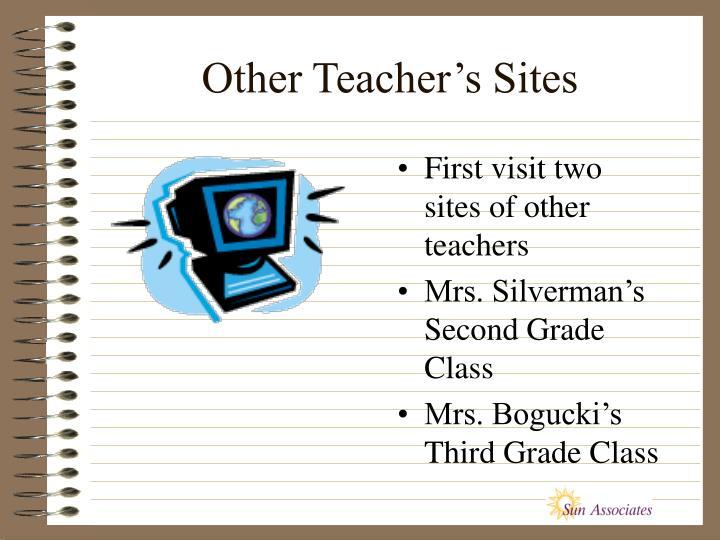 Other Teacher's Sites