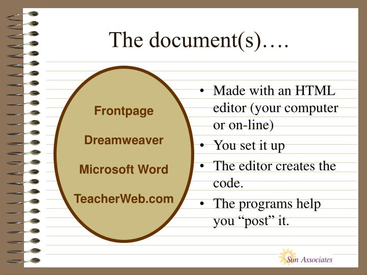 The document(s)….