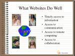 what websites do well