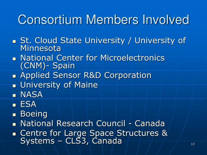 Consortium Members Involved