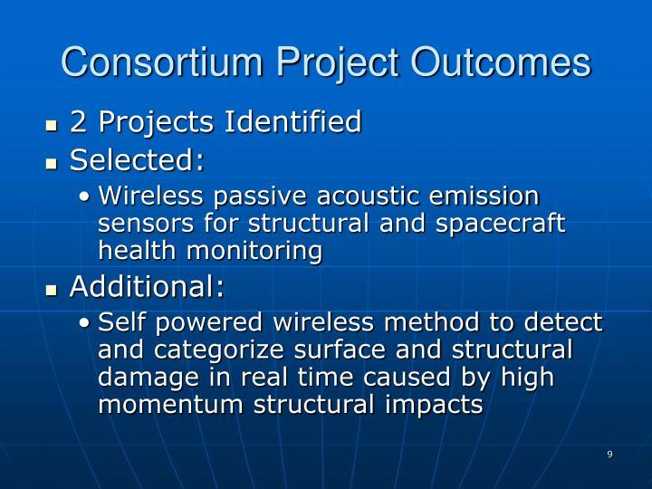 Consortium Project Outcomes