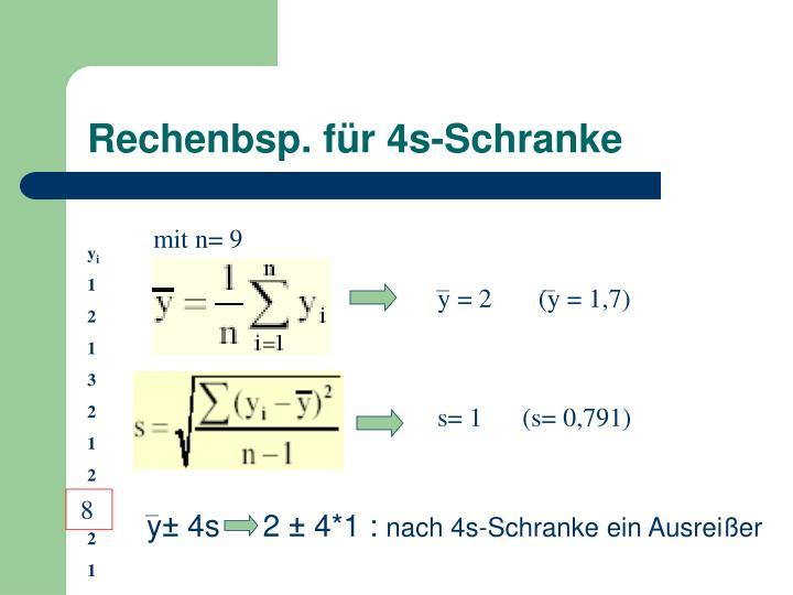 Rechenbsp. für 4s-Schranke