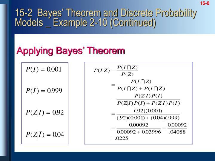 Applying Bayes' Theorem