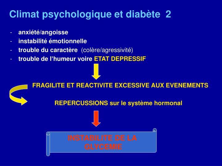 Climat psychologique et diabète  2