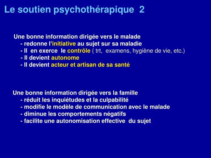 Le soutien psychothérapique  2