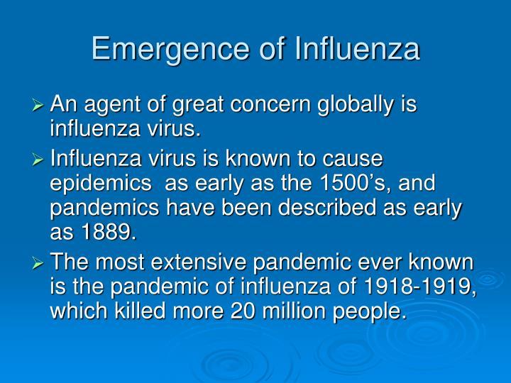 Emergence of Influenza
