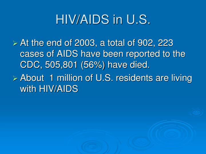 HIV/AIDS in U.S.