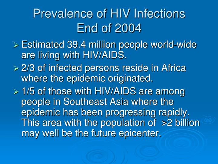 Prevalence of HIV Infections