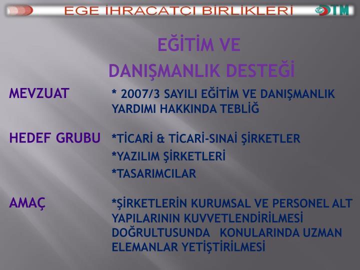 EĞİTİM & DANIŞMANLIK