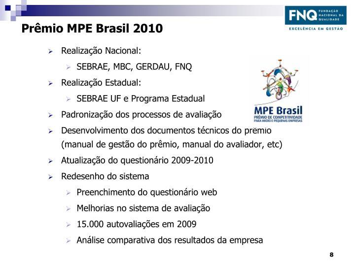 Prêmio MPE Brasil 2010