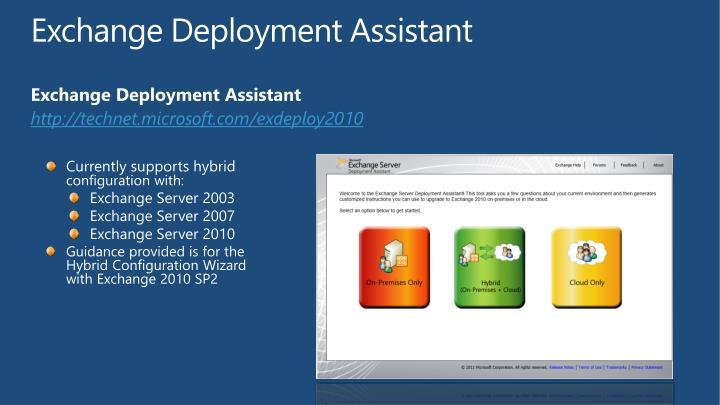 Exchange Deployment Assistant