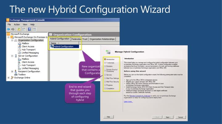 The new Hybrid Configuration Wizard
