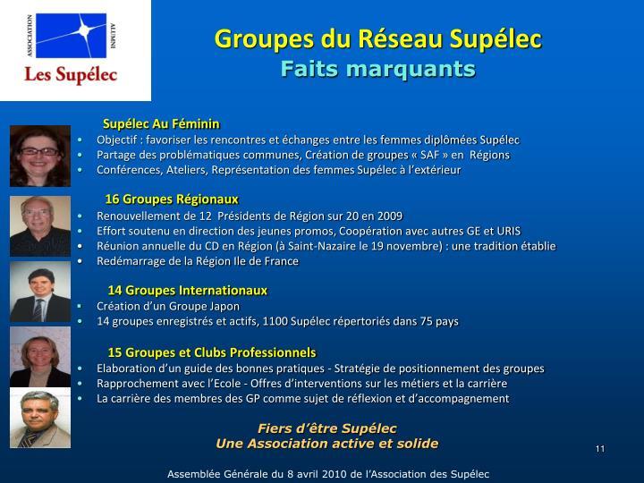 Groupes du Réseau Supélec