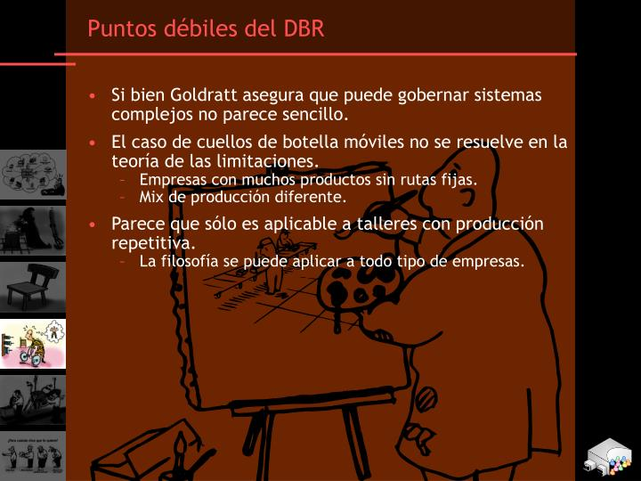Puntos débiles del DBR