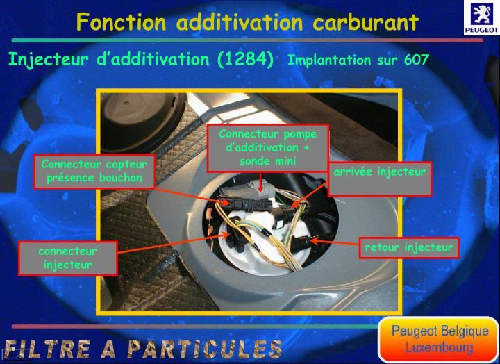 Connecteur pompe dadditivation + sonde mini