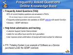 frequently asked questions online knowledge base