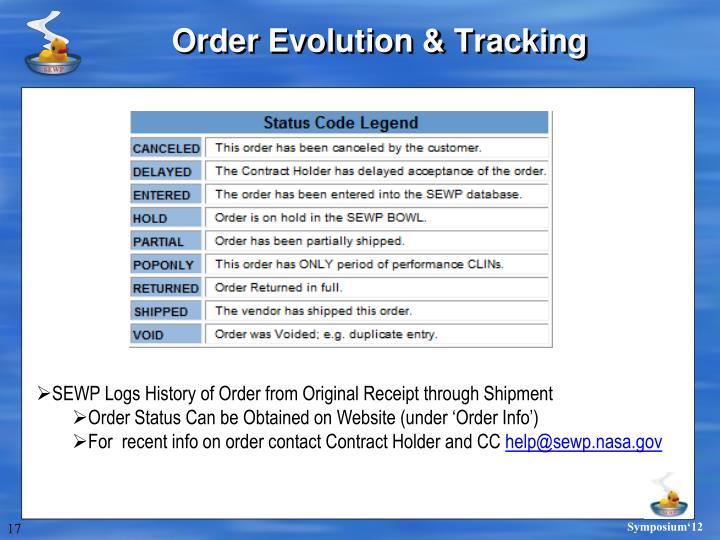 Order Evolution & Tracking