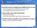 reasons for delayed status 2 of 3
