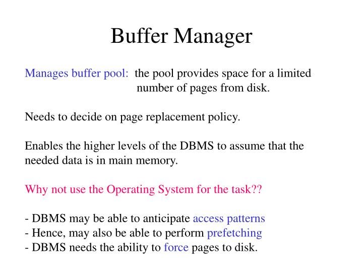 Buffer Manager