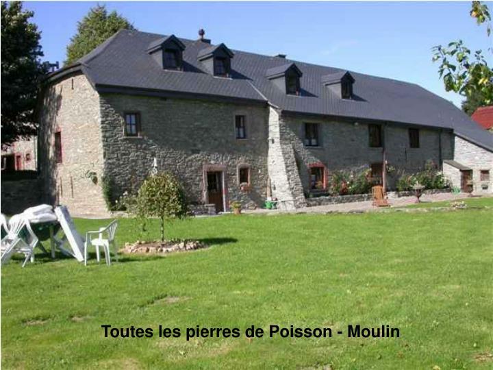 Toutes les pierres de Poisson - Moulin