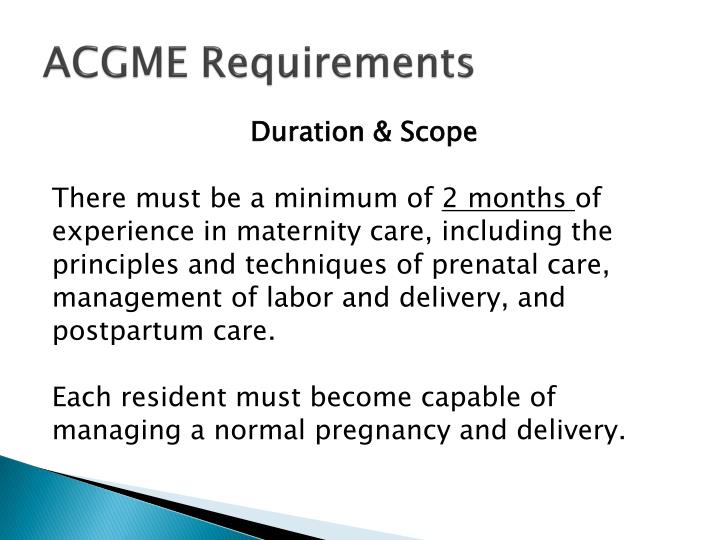 ACGME Requirements