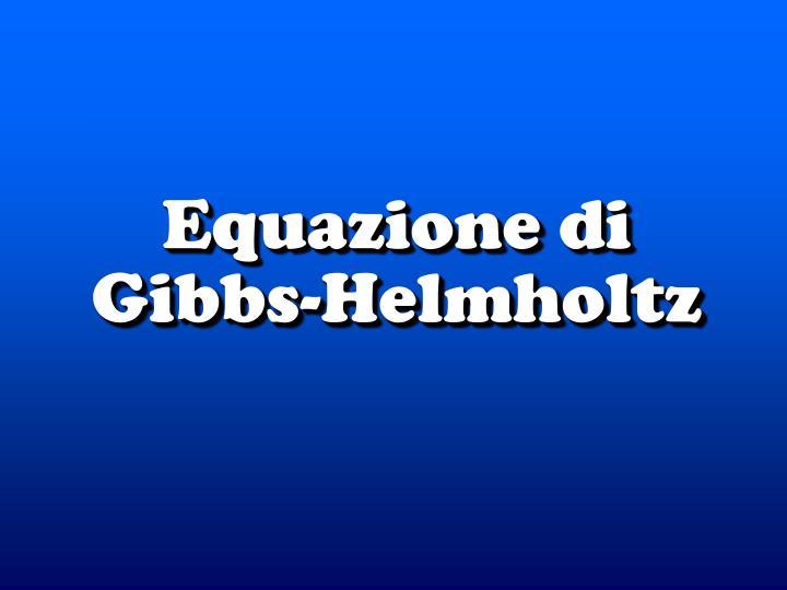 Equazione di Gibbs-Helm