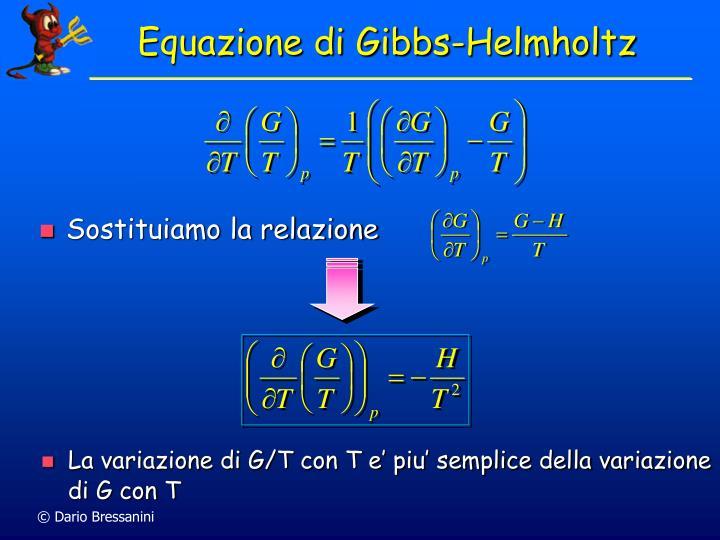 Equazione di Gibbs-Helmholtz
