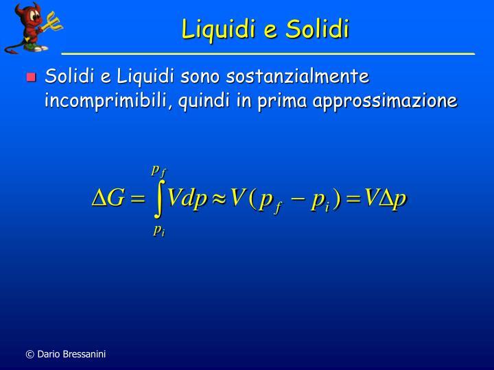 Liquidi e Solidi